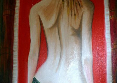 Femme nue au bain